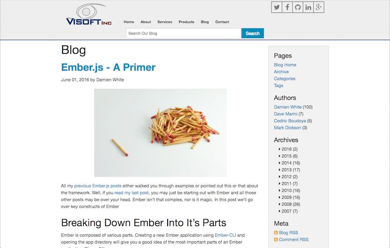 The old blog design