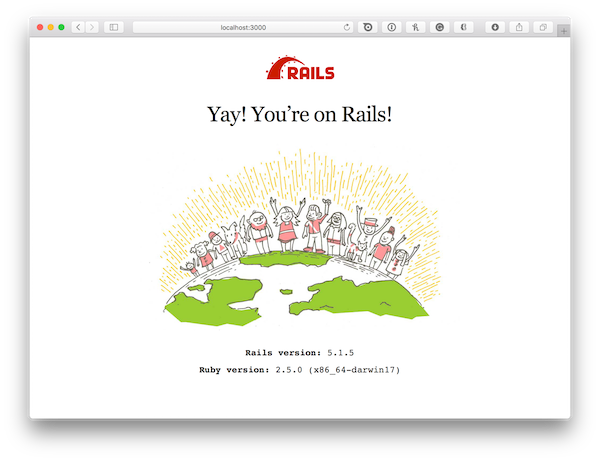 Figure 1: Yay! You're on Rails!